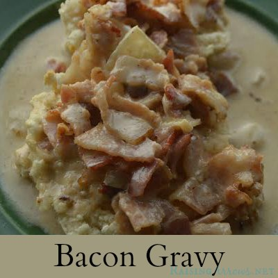Bacon Gravy - a Trim Healthy Mama biscuits & gravy alternative the entire family will love! | RaisingArrows.net