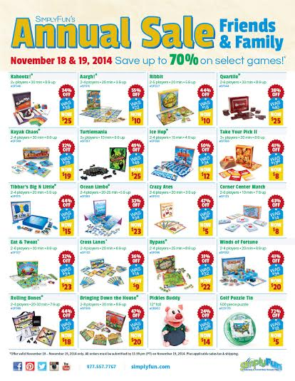 SimplyFun Annual Holiday Sale - High Quality Educational Games!