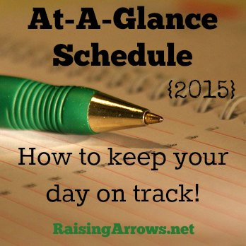 Make your day run smoother by using an At-A-Glance Schedule! | RaisingArrows.net