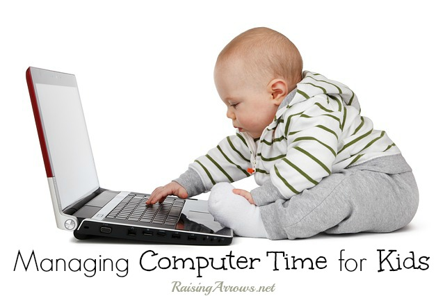 Managing your children's computer time - ideas for keeping track of their screen time | RaisingArrows.net