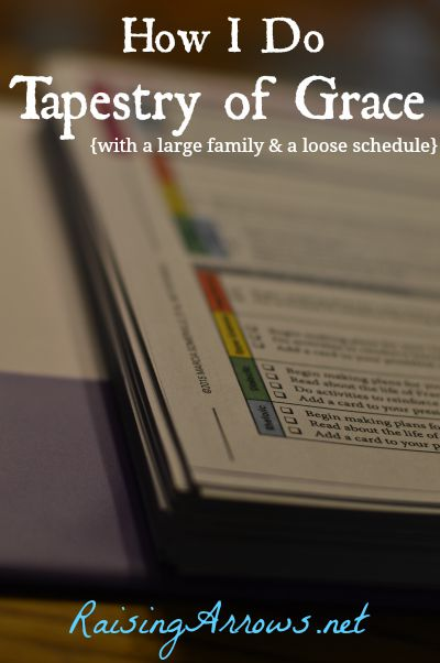 You don't have to follow the entire schedule to a T to use Tapestry of Grace - this post shows how one family does TOG (planning, teaching, and tweaks) | RaisingArrows.net