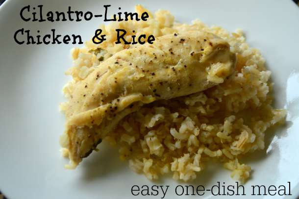 Cilantro-Lime Chicken & Rice - a super easy, tasty, and beautiful one-dish meal! | RaisingArrows.net