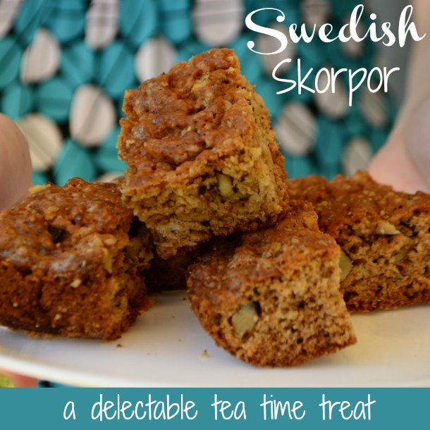 Swedish Skorpor (also known as Rusks) are a delightfully rich tea time treat!  They are baked twice, leaving them hard like a biscotti, but once you dip them in your tea of coffee, you won't be able to eat just one! | RaisingArrows.net