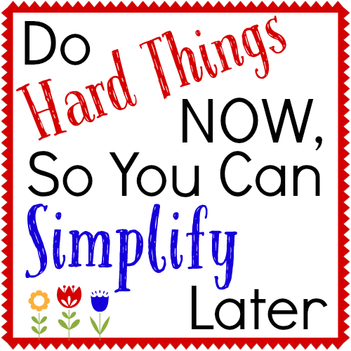 Doing Hard Things Now, So You Can Simplify Later {Periscope Replay}