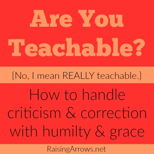 How do you handle criticism & correction as a Christian? Are you teachable? Do you know how to discern God's path for you? Let's talk...