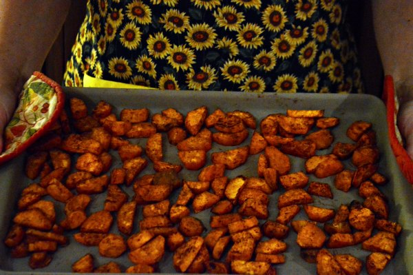 Roasted Sweet Potatoes {THM E}