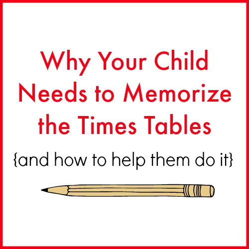 At a certain stage in my children's homeschooling math journey, I stop all other math and focus solely on teaching them their times tables. Here's why and how!