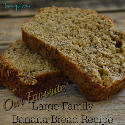 Large Family Banana Bread Recipe