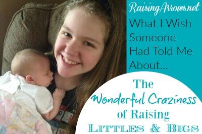 Raising little kids alongside big kids has a lot of unique challenges - here's how we've handled some of them! | RaisingArrows.net