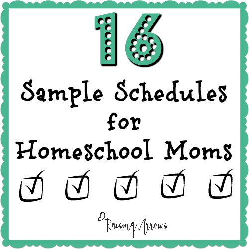 If you need a homeschool schedule to make your day run smoothly, this list of structured schedules will help you find one that works!