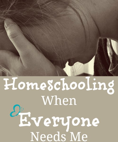 How do you homeschool when everyone seems to need you at once?