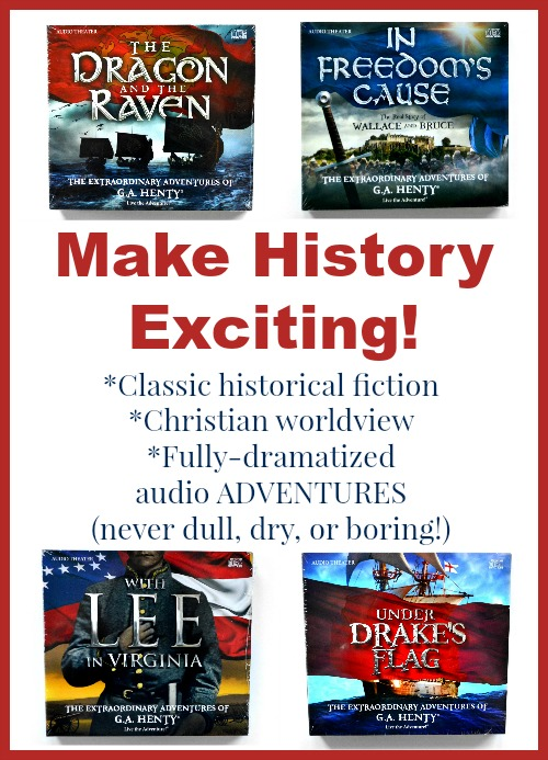 Audio Adventures that will give your children a love of history!