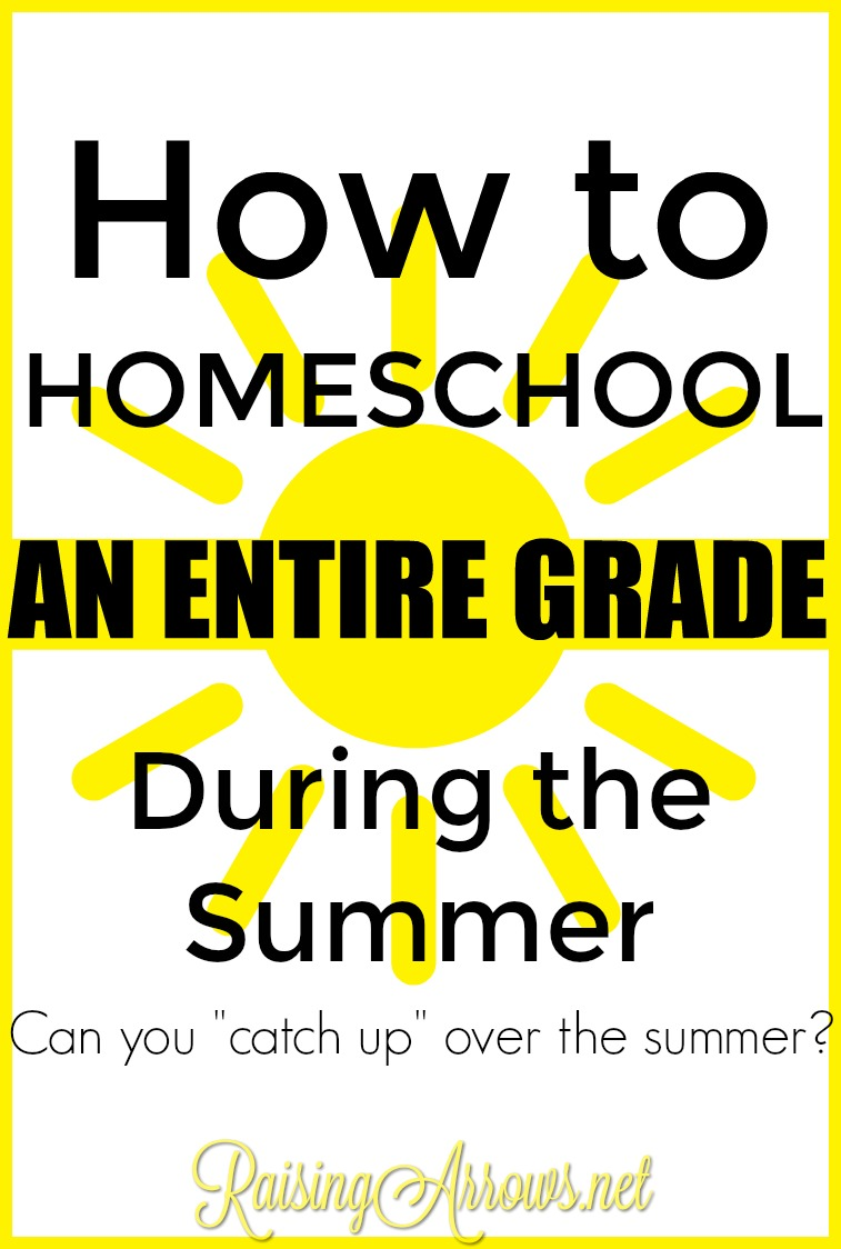 Help homeschooling your child during the summer in order to catch up in certain classes and even catch up and entire grade!
