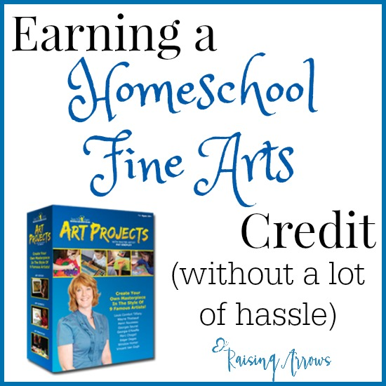 Need a high school fine arts credit and not sure how to make it happen? Here's a great way to get either a half or full credit for homeschoolers!