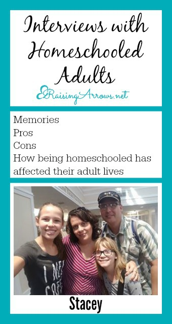 Homeschool mom, Stacey, was homeschooled too! Read her story, and how being homeschooled impacted her life!