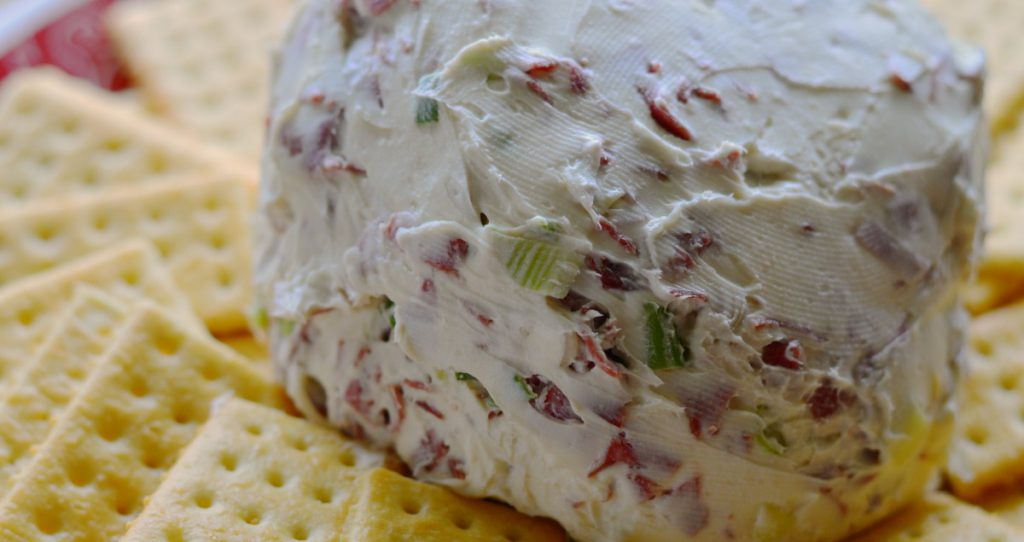 This is the easiest cheese ball ever!  I keep the ingredients on hand, and it is always a big crowd pleaser!