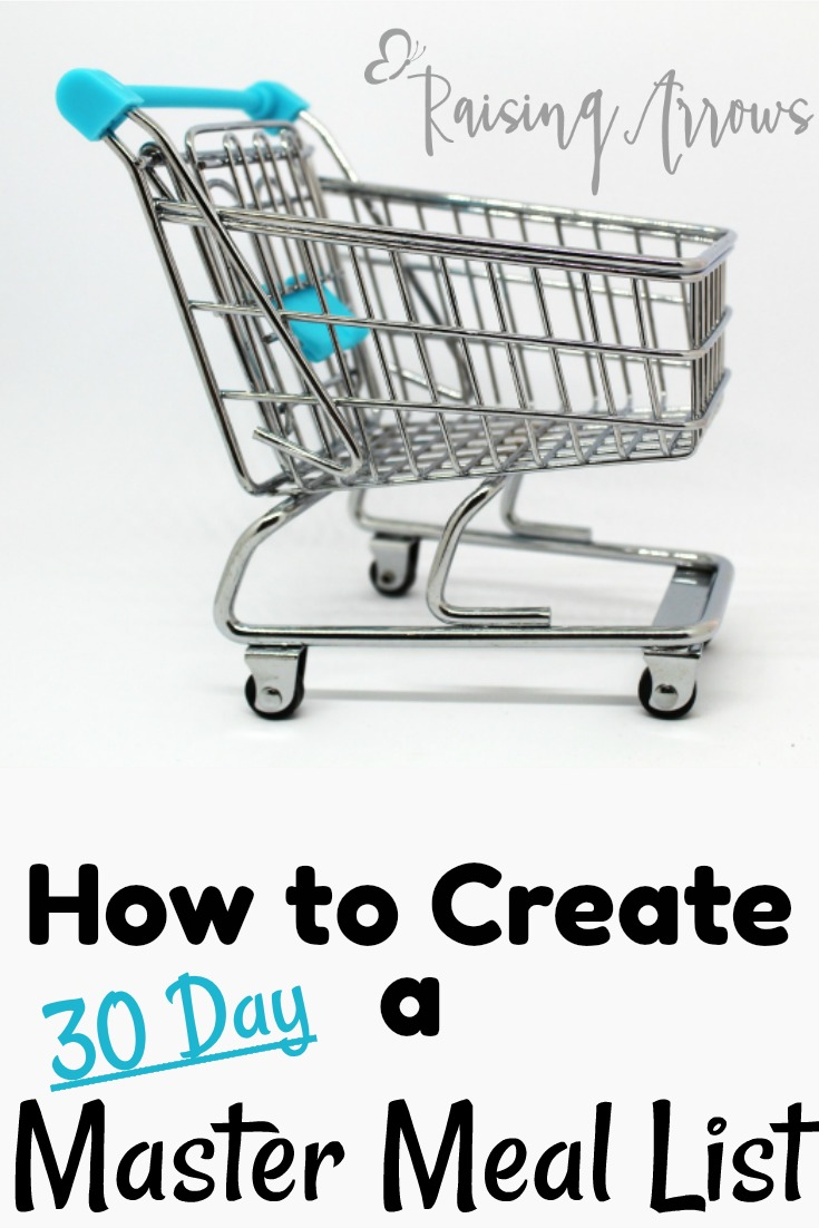 How to Create a 30 Day Master Meal List