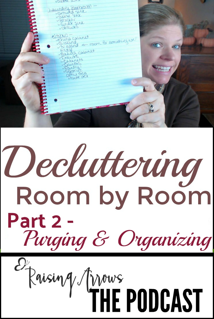 Decluttering Podcast! What I keep, what I throw out, my biggest mistake, and how I organize things to keep them organized!