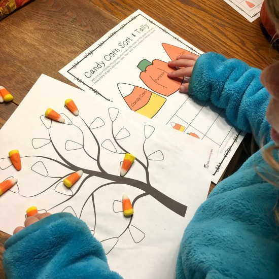 Candy Corn Worksheets from this week's Large Family Homeschooling Week in Review