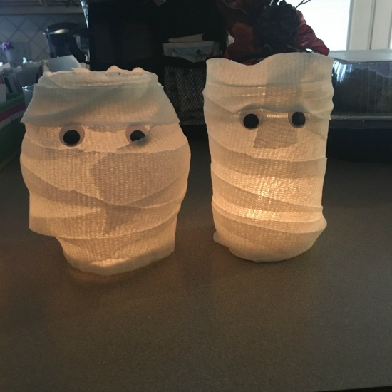 Mummy Luminaries from this week's Large Family Homeschooling Week in Review 11/3/17