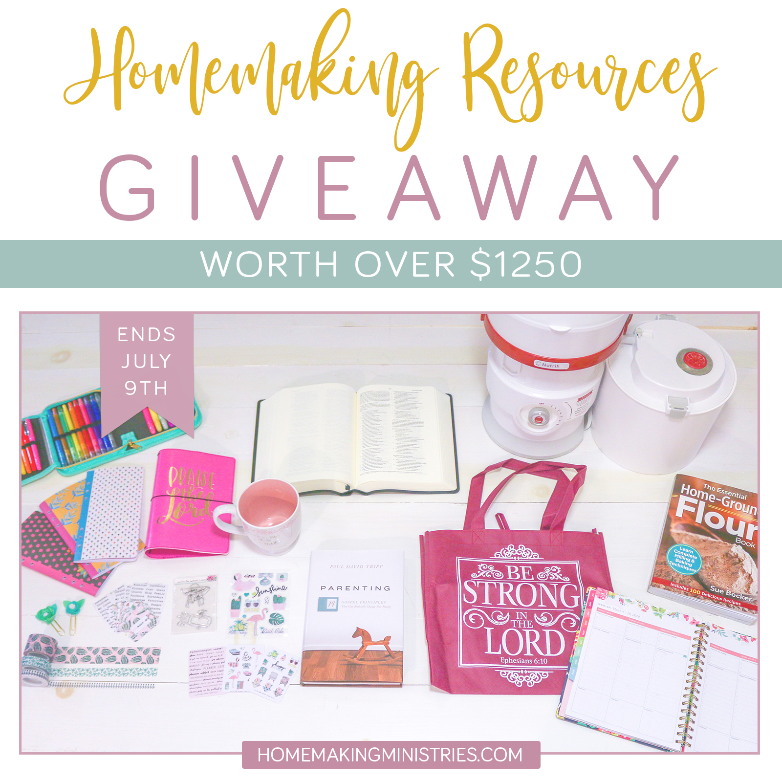HUGE Homemaking Giveaway – REAL PRODUCTS!