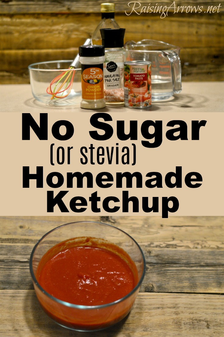 How to make ketchup without sugar or stevia!