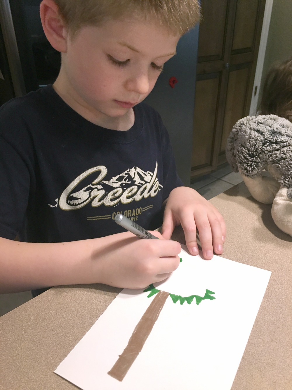 Chicka Chicka Boom Boom alphabet trees from The Peaceful Preschool curriculum in this week's Large Family Homeschooling Week in Review!