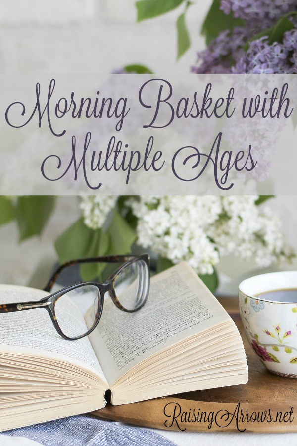When you are homeschooling a lot of different ages, it can seem impossible to put together a Morning Time that fits all of them. But, trust me, you can!