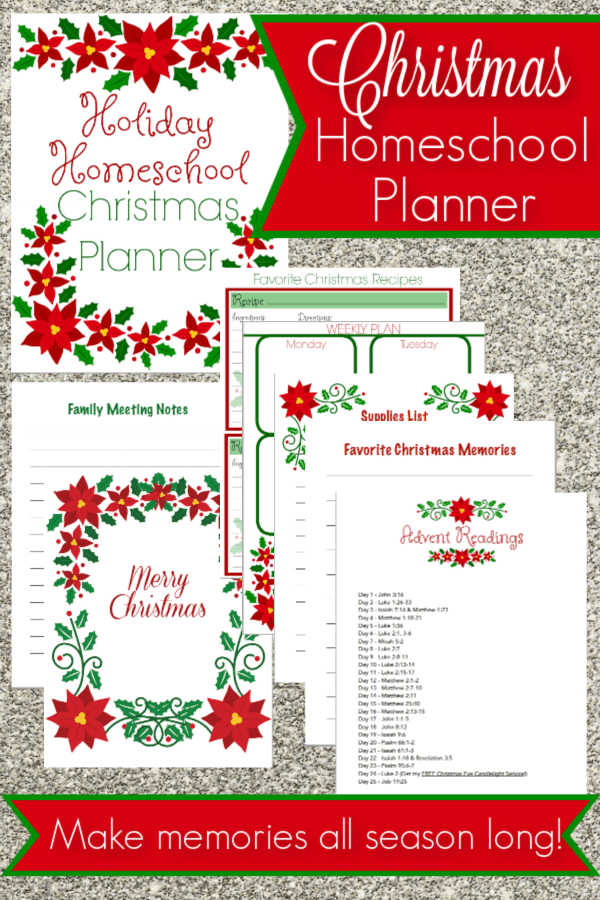 Plan a memorable Christmas season with this holiday homeschooling pack! Create beautiful memories and a wonderful keepsake for years to come!