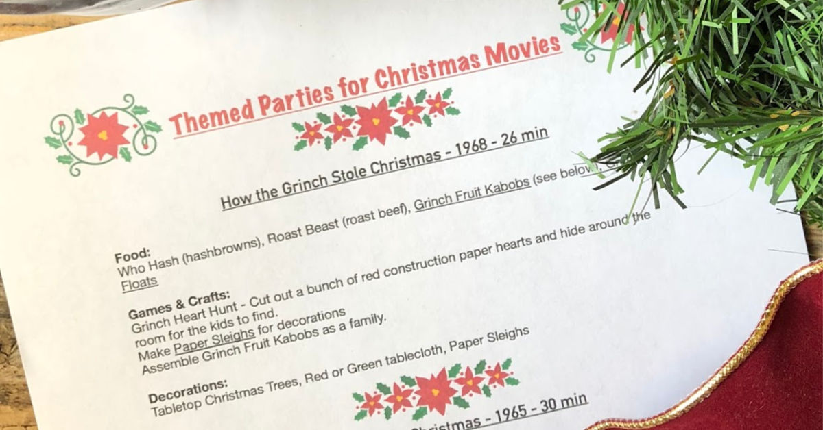 Turn the Christmas Movies You Love into a Themed Party!