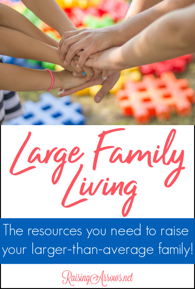 Large Family resources you need to manage your big family! Large family meals, parenting tips, homeschooling multiple ages, organization, and more!
