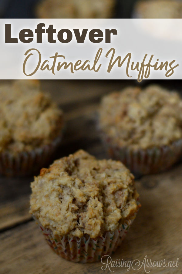 No one likes to eat leftover oatmeal, but this recipe will turn that mushy, sticky mess into delicious muffins for tomorrow's breakfast!
