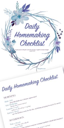 Daily Homemaking Checklist