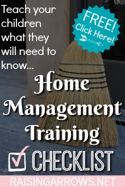 Home Management Training Checklist for teaching kids how to run a household!