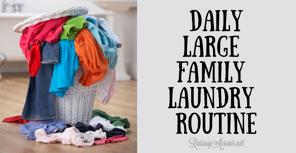 Daily Large Family Laundry Routine