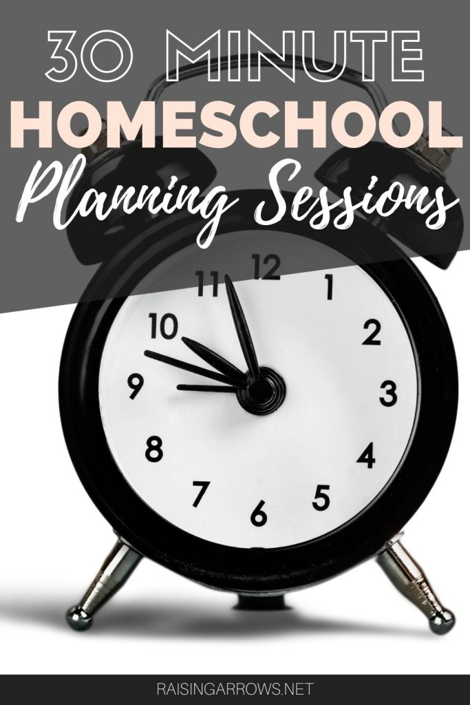 Making lesson plans for your homeschool doesn't have to take a lot of time!  You can plan your homeschool lessons in just 30 minutes.