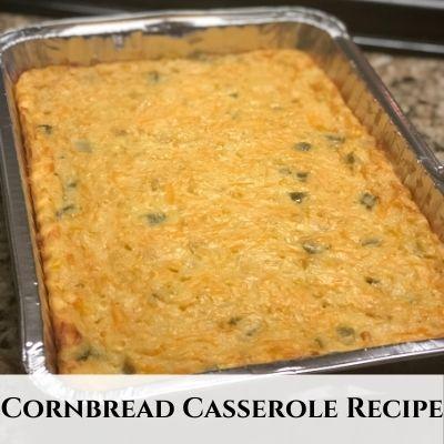 Creamy Cornbread Corn Casserole