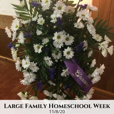 Large Family Homeschool Life – 11/8/20