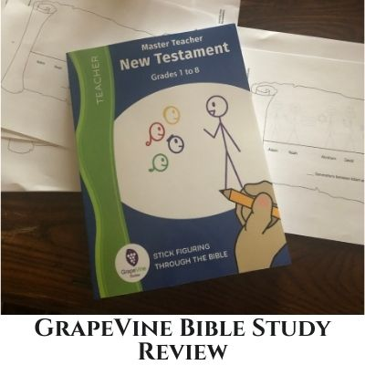 GrapeVine Bible Studies Review – using stick figures to homeschool my kids!