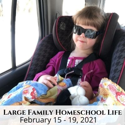 Large Family Homeschool Life – 2/15/21 – 2/19/21