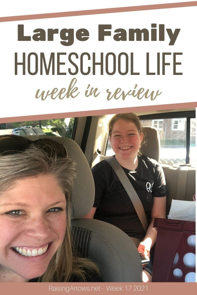 Highlights of this week were the Crusades, the pantry overhaul, and picking our daughter up from college  - not necessarily in that order!