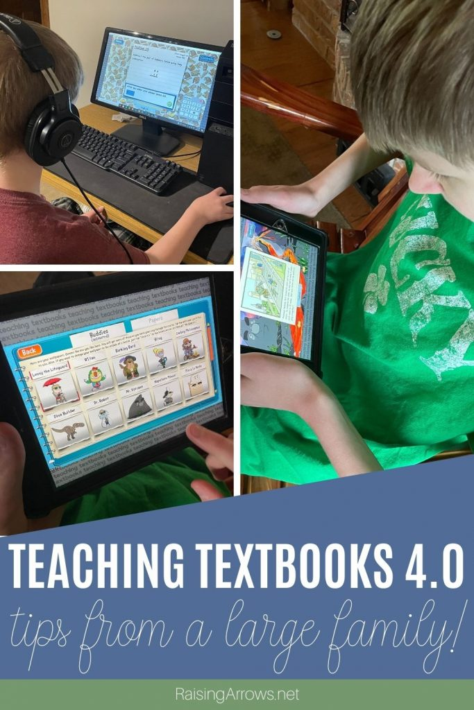 A review and tips for using the Teaching Textbooks 4.0 app from a mom who is teaching math to multiple ages in her homeschool.