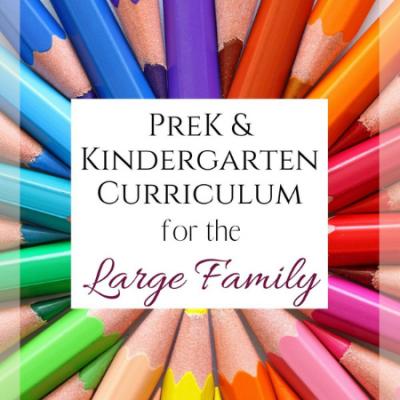 Preschool and Kindergarten Homeschool Curriculum Picks for the Large Family