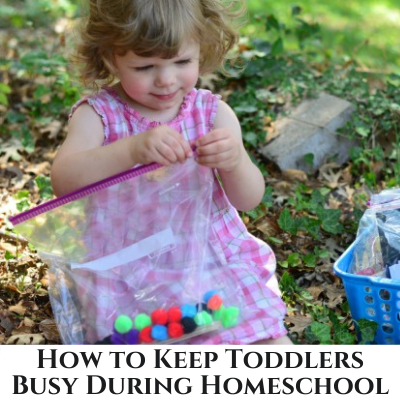 10 Ideas to Keep Toddlers Busy During Homeschooling