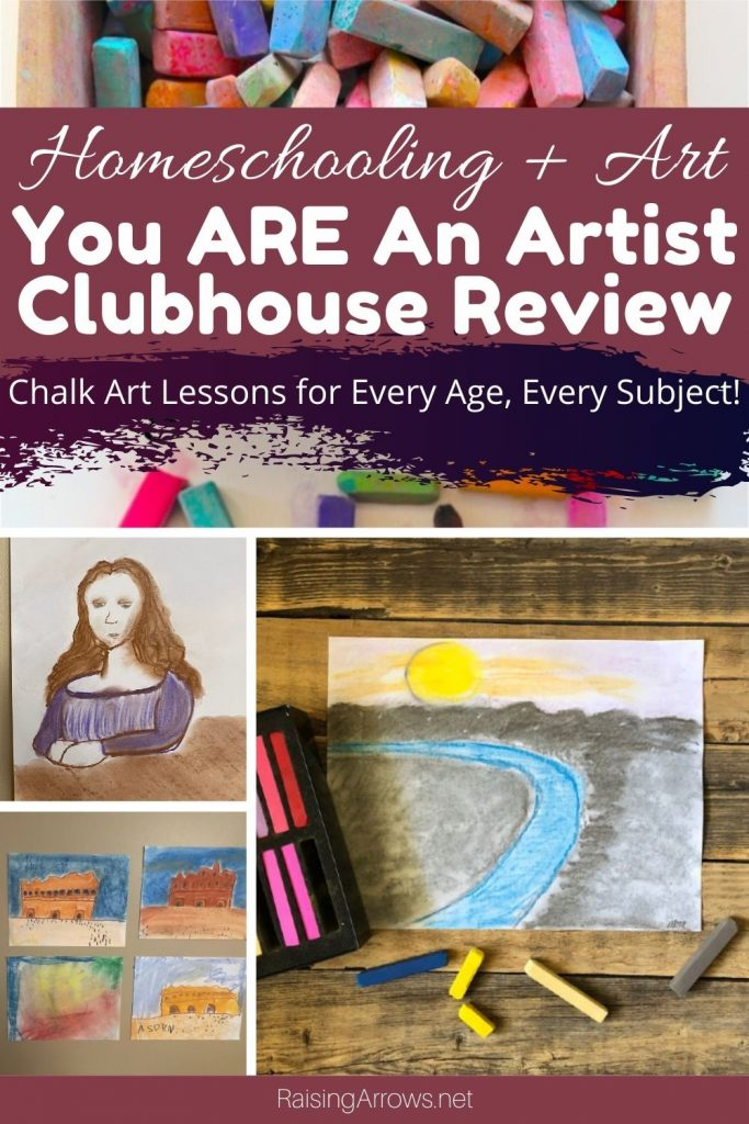 How to use the chalk pastel lessons from You ARE An Artist with multiple ages for multiple homeschool subjects.