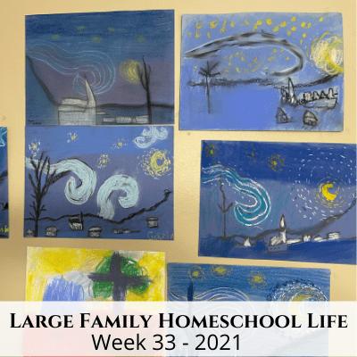 Large Family Homeschool Life – Week 33 of 2021