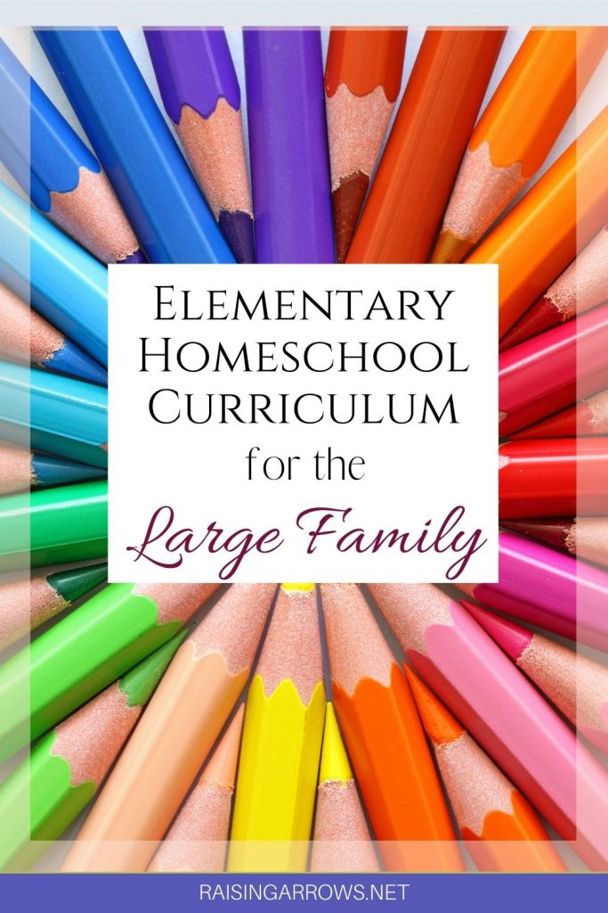 Large family homeschooling curriculum ideas from a mom of 10.  These are actual products we have been using in our homeschool.