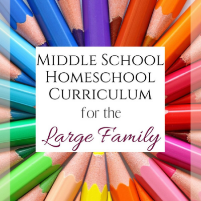 Middle School Homeschool Curriculum for the Large Family
