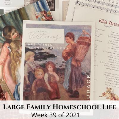 Large Family Homeschool Life – Week 39 of 2021