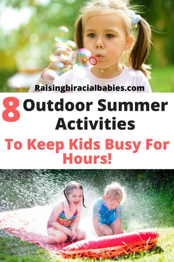 summer activities for kids | outdoor activities for kids | family activities | parenting |